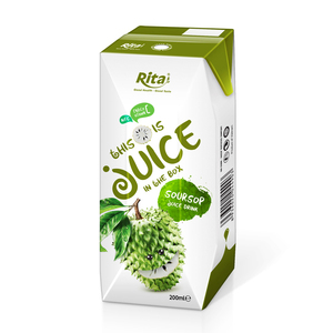 Wholesaler Beverage from Vietnam 200ml Box Packing Soursop Juice