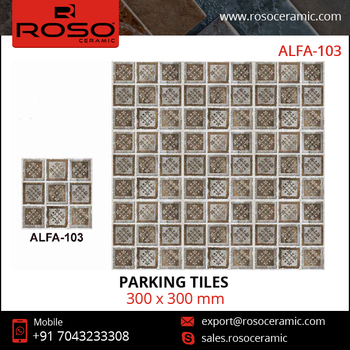 Parking Tiles - Vitrified Parking Floor Tiles, Heavy Duty Parking Tiles