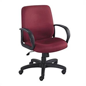 """Burgundy Swivel Office Chair, Chair with Casters with Adjustable Height, Office Furniture, Home Desk Chair, Swivel Chair, Polyester Chair, Desk Chair, Bundle with Expert Guide """"Quality in Our Life"""""""