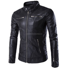 New Arrival Wholesale Custom Stylish Mens All Season Leather Jacket Made in Pakistan