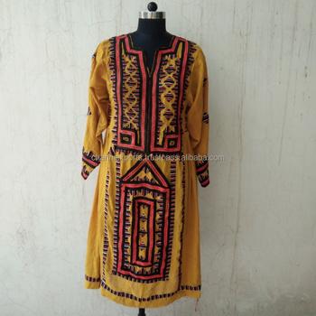 e1ea6b9331 Ethnic Indian Hand Embroidery Vintage Banjara Balochi Dresses ...