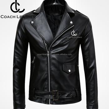 Top Trending Branded Coach Leather Biker Jacket For Men Top