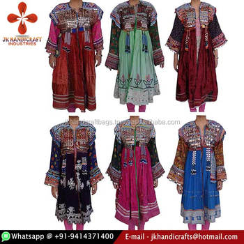 1078acdf9d Wholesale Lot Vintage Heavy Embroidered Afghani Kuchi Dress - Buy ...