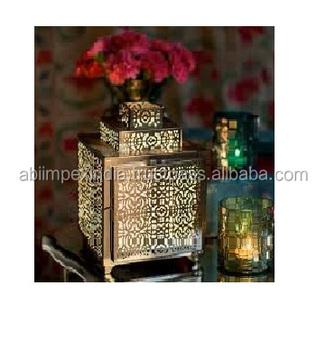 Marroquino Lanterna Para A Festa De Decoração De Mesa De Ouro - Buy on