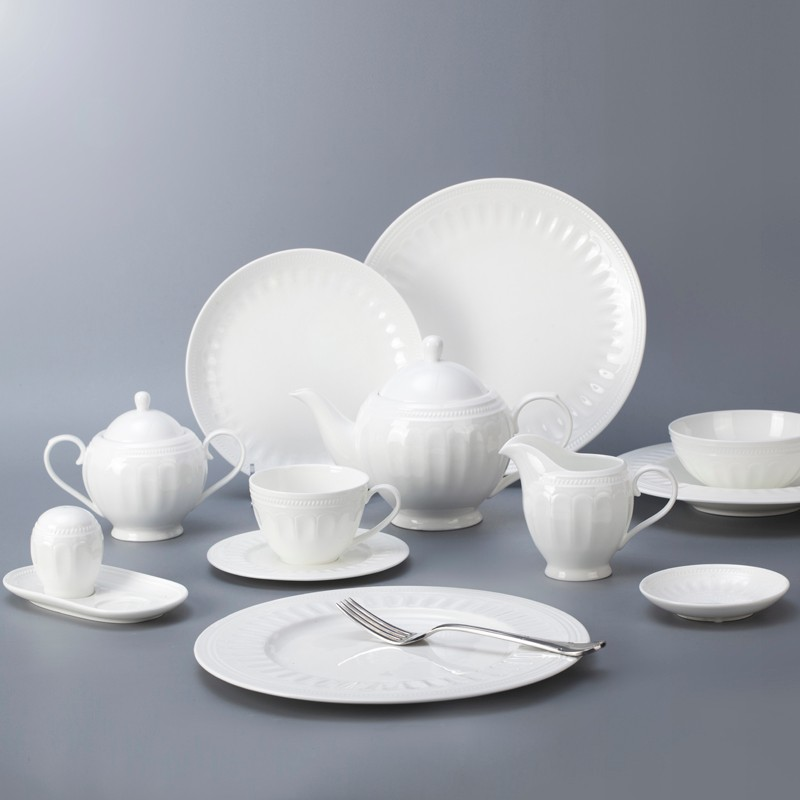 product-Two Eight-Western style five star hotel use bone china crockery tableware dinnerware set-img-1