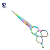Barber Scissors With New Design Multicolored Titanium With Super Sharp Cutting Blades Stainless Steel