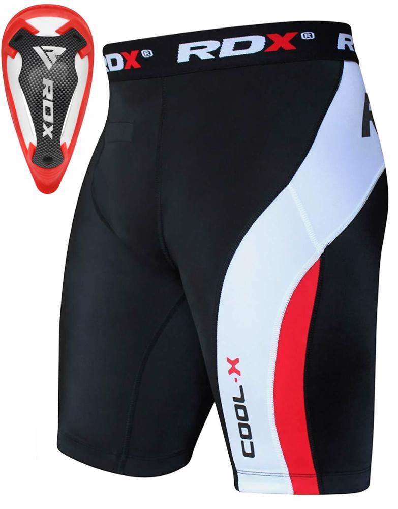 100% hoge Kwaliteit Thermische Compressie Flex Shorts & Gel Lies Cup Guard MMA Korte Muay Thai
