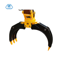 excavator wood grapple tree shear mechanical grapple