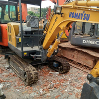 Used Komatsu PC20 2 ton almost new hydraulic crawler excavator in lowest price with high quality