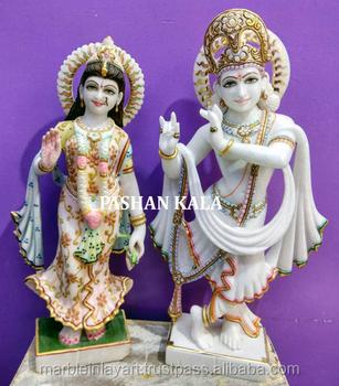 White Marble Lord Radha Krishna Standing Sculpture Buy Handmade
