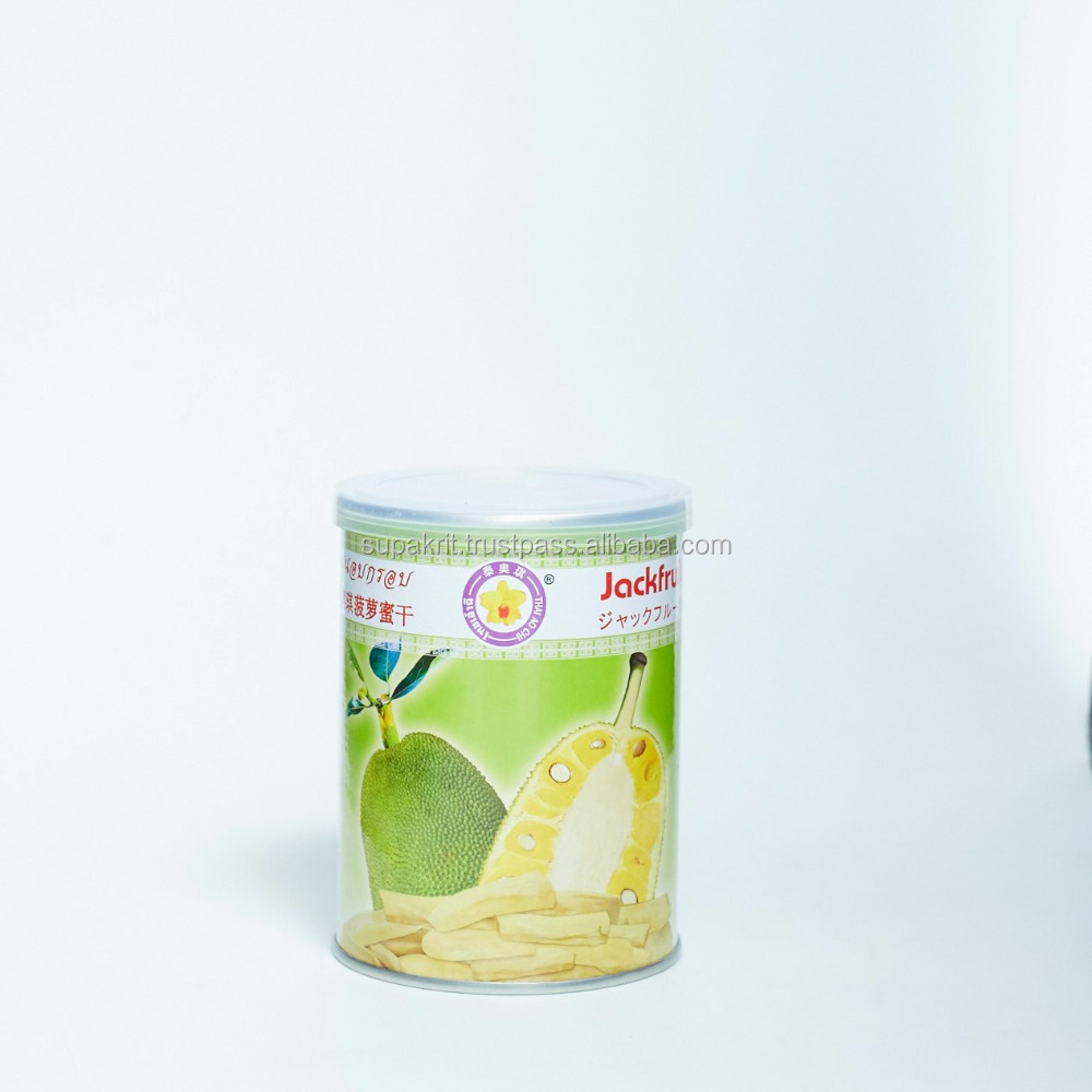 High Quality Vacuum Freeze Dried Jackfruit 50 grams tin can from Thailand : 100% Natural dried <strong>fruits</strong>.