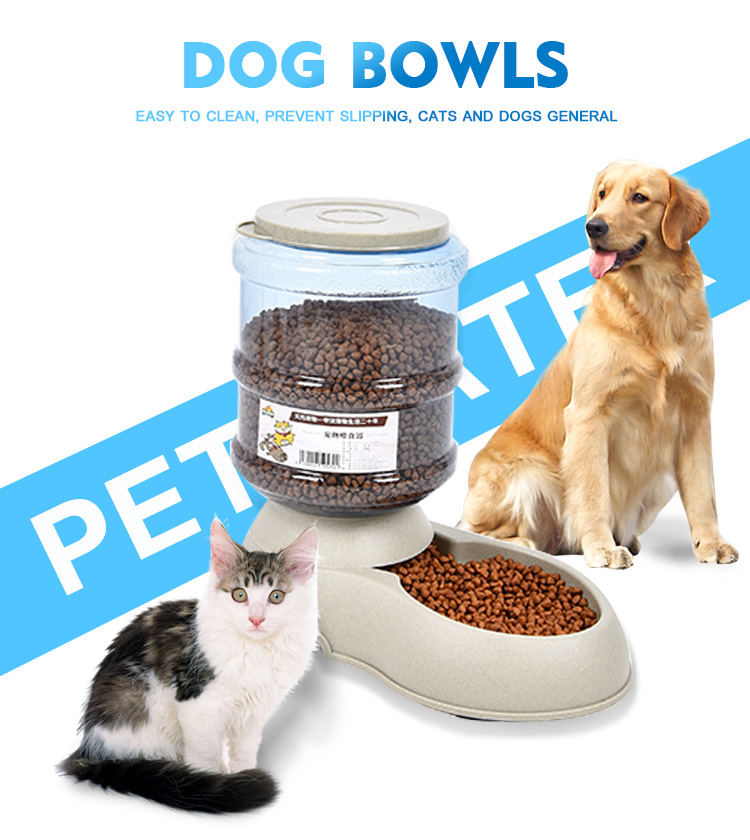 Home Pet Bowls Dog Water And Food Auto Pet Feeder