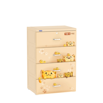 Plastic drawer/ cabinet plastic drawers/ TABI-S CABINET - 4 DRAWERS - Vietnam