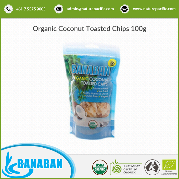 Naturally Premium Quality Organic Coconut Chips at Reasonable Market Price