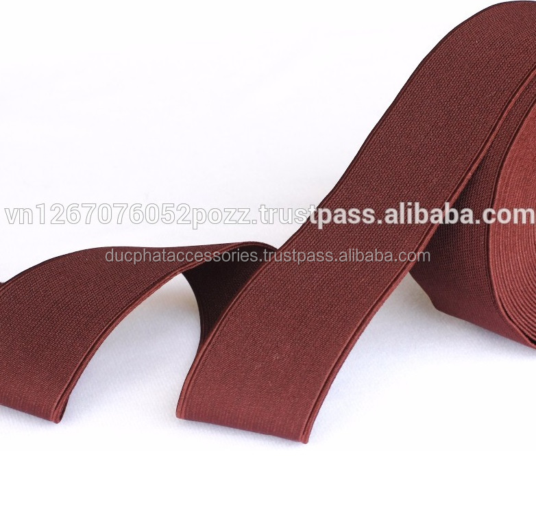 Polyester Woven Elastic Band with Double Same Side for Garment