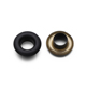 High quality matt black custom logo brass grommets metal eyelets for boots
