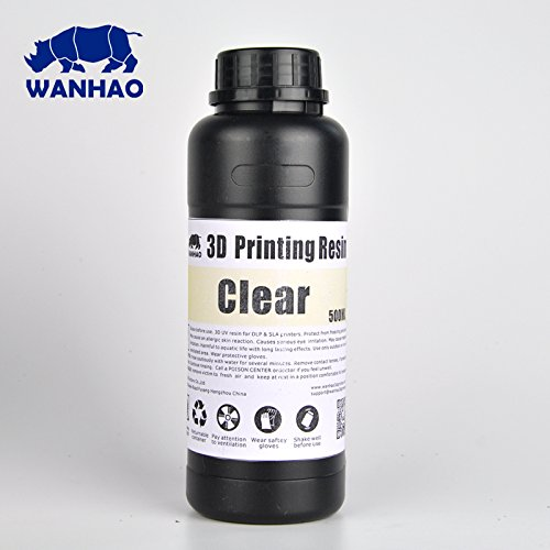 Wanhao UV Cure 3D Printer Resin - Clear 500ml