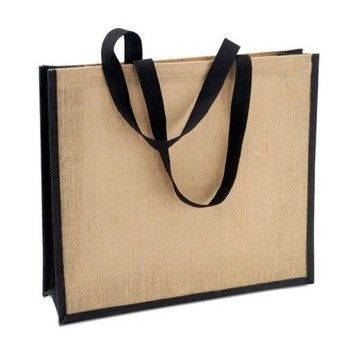 natural jute promotion bag with soft handle