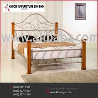Modern Bedroom Sets Emperor Double Beds Metal Furniture folding bed made in Malaysia