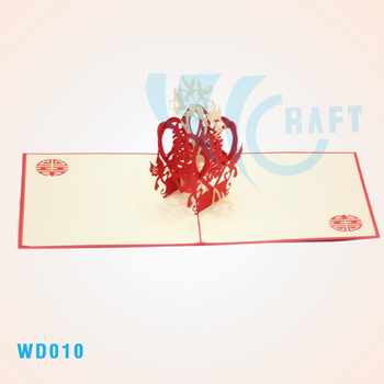 dove and chinese word 3d greeting cards handmade vietnam - 3d Greeting Cards