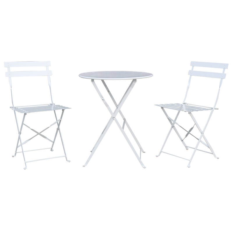 Garden 3pcs Folding Table And Chair Set