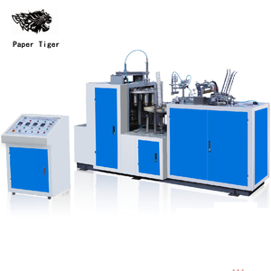 semi automatic recycle disposable coffee cup yogurt paper cup making machine price