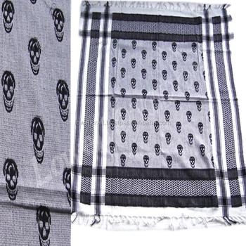 Skull Pattern Arafat Scarves Buy Keffiyeh Scarfknitting Patterns