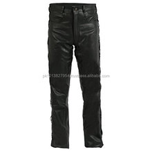 Men's Fashion 100% Sheep Nappa Leather Pants/Logo Acceptable
