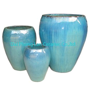 Light Green Ceramic Glazed Fower Pot/ Pottery Planter - Buy Large Glazed  Ceramic Garden Pots,Vietnamese Ceramic Pot,Outdoor Glazed Pottery Planter