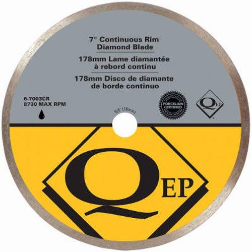 QEP 6-7003Q Continuous Rim Diamond Blade, 7-Inch Diameter, 5/8-Inch Arbor, Wet Cutting, 8730 Maximum RPM