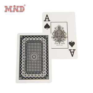 Custom logo printed paper 777 playing poker cards game cards