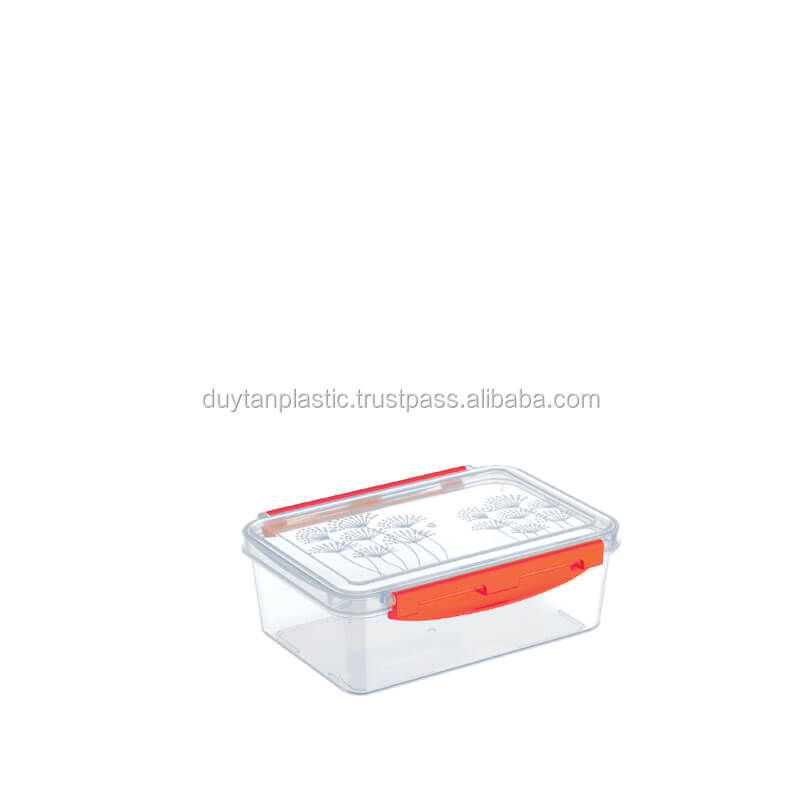 EASY-LOCK FOOD CONTAINER WITH LID 820 ml #No.965 #DUYTAN PLASTICS #FOOD CONTAINER
