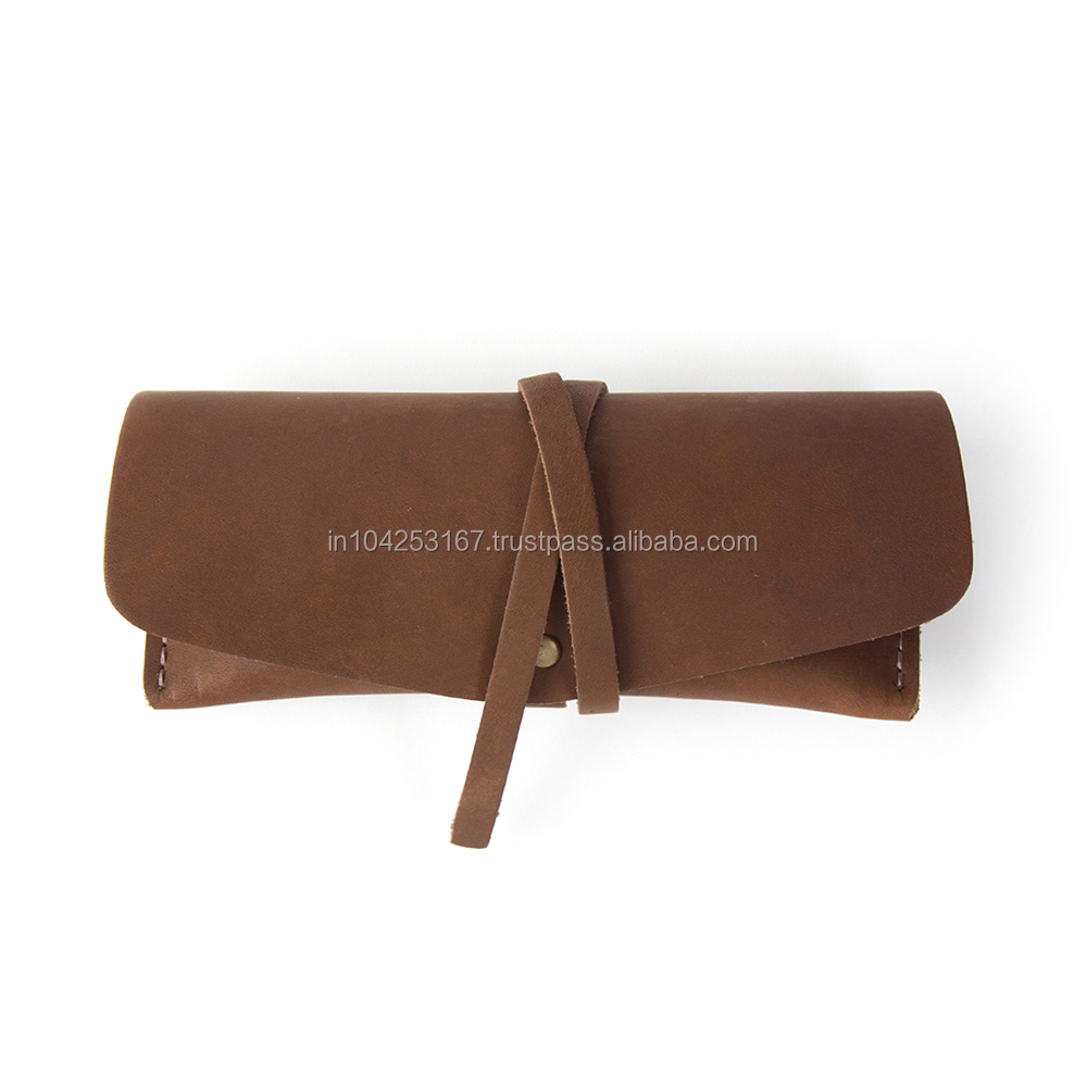 Pu leather 안경 pouch customized