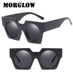 Morglow CJ7773 2018 New Vintage Sunglasses Woman Man Ladies Square Frame Round Lens Fashion Sun Glasses Retro Shades Unisex