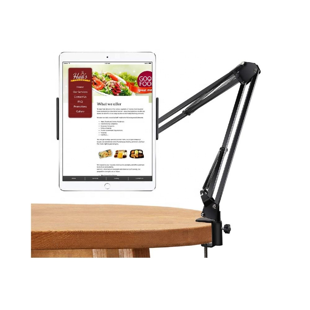 MoKo Flexible Rotatable Holder for Phone/Tablet Long Arm Lazy Aluminum Mobile Phone Holder Stand for 4-10.5 inch devices