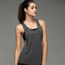 Womens Sports Vest Fitness Exercise Gym Yoga Tank Tops Singlet Loose Tops Shirt Sports Active Workout Wears and Running Top