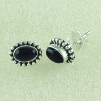 Beautiful Amethyst Stone Studs, 925 Sterling Silver Studs