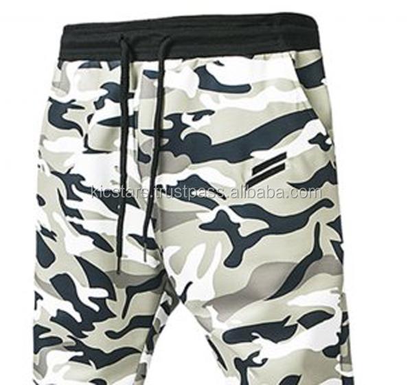 5737022096 Custom men fashion tapered full camo print sweat trousers, fitness casual training  gym pants OEM