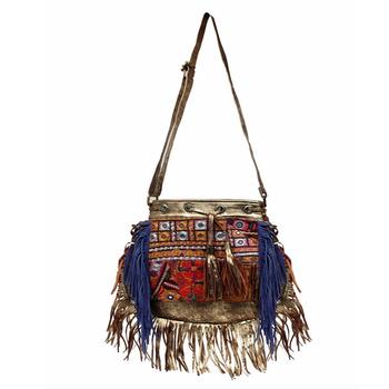 0390996dfcfe0 Handmade Saco Banjara Tribal Banjara Gypsy vintage Camurça De Couro Do  Vintage