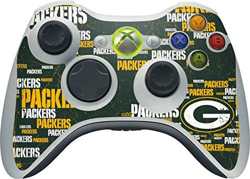 NFL Green Bay Packers Xbox 360 Wireless Controller Skin - Green Bay Packers Blast Vinyl Decal Skin For Your Xbox 360 Wireless Controller