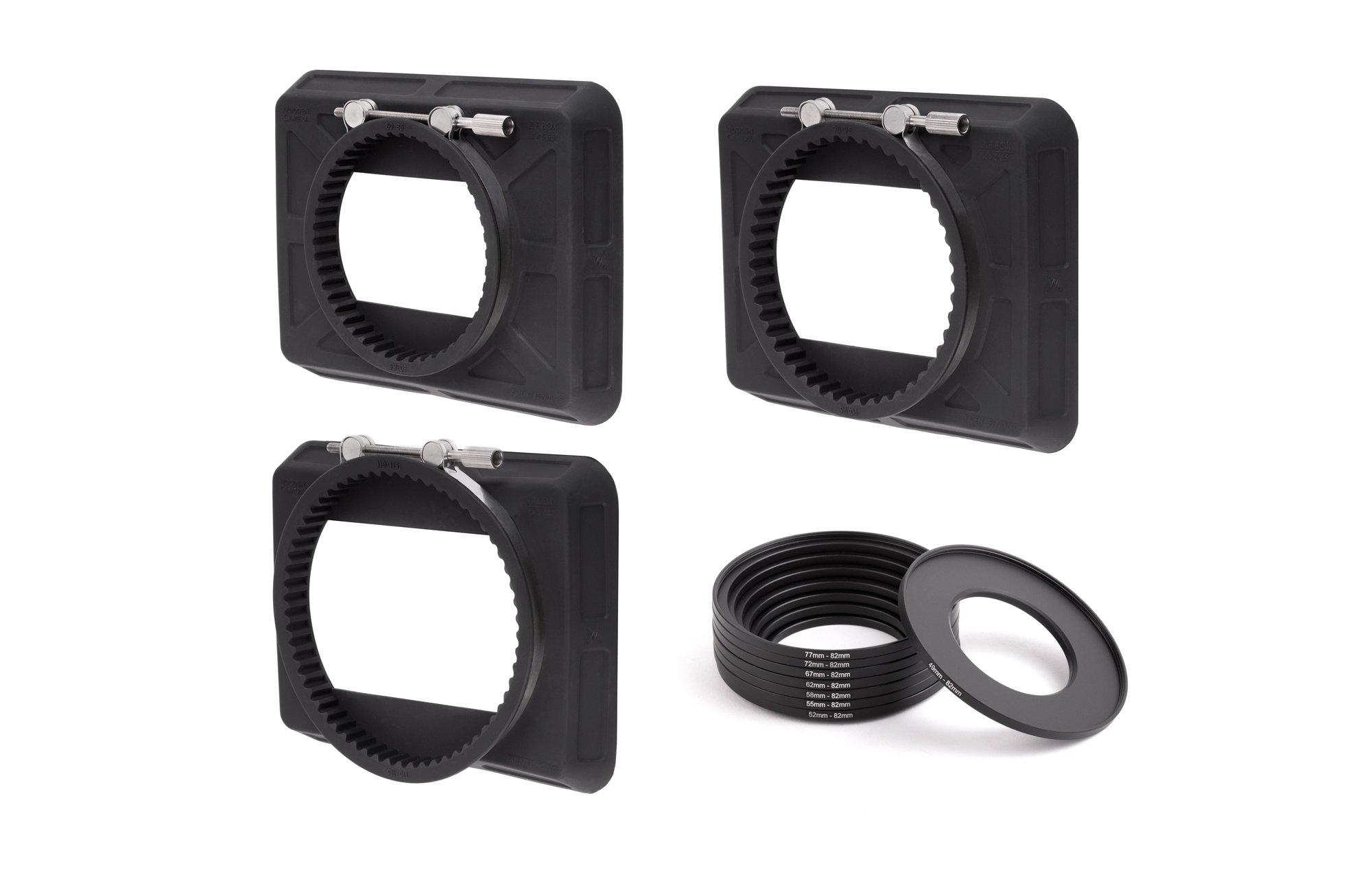 Wooden Camera - Zip Box Kit 4x5.65 (80-85mm, 90-95mm, 110-115mm, Adapter Rings)