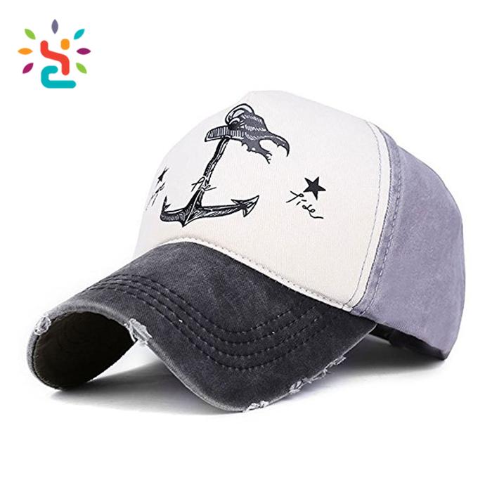Vintage estilo Barcos Pirata ancla impresión Multicolor ajustable gorra de béisbol  Logotipo de impresión personalizado sombreros 963cf8c5dd1