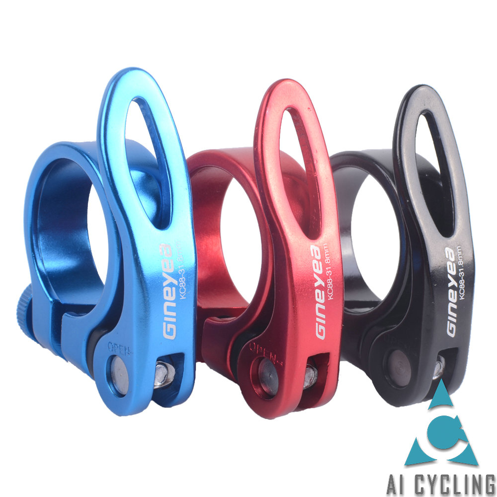 Alloy Seat Post Clamp 28.6mm MTB Mountain Road Bike Quick Release Clamps