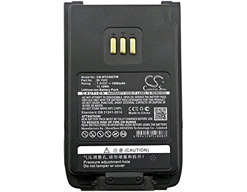 High Capacity Cameron Sino 1500mAh Li-ion Replacement Battery for HYT PD502, PD602, PD500, PD600, fits HYT BL1502