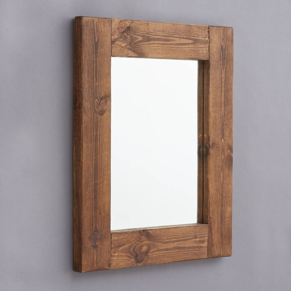 Rustic Wooden Frame Mirror