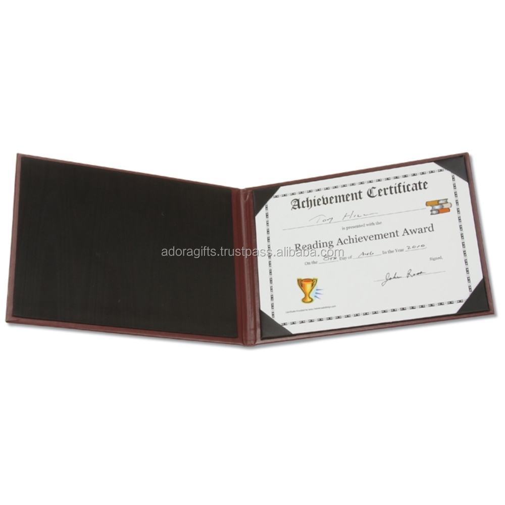 Leather diploma cover/folder
