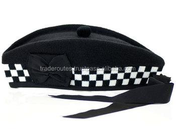47ab25d2e19 Glengarry Scottish kilt Hat at Wholesale price Band cap Black TRI-1691