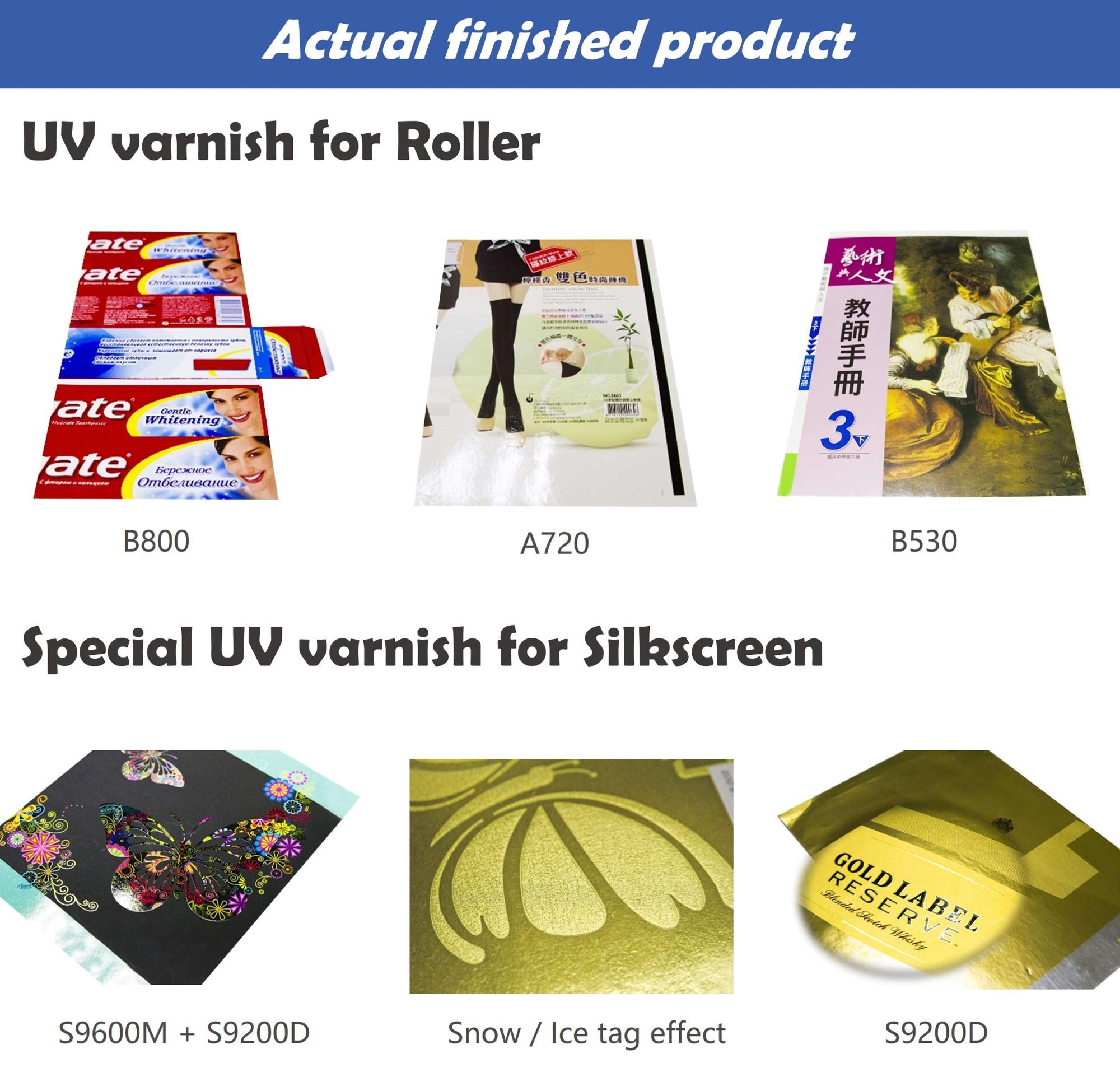 Offset Spot Visitekaartje Acryl Hoogglans Overdruk Zeefdruk UV Lak Uv-uithardende Hars Vloeibare Afdrukken Coating Papier