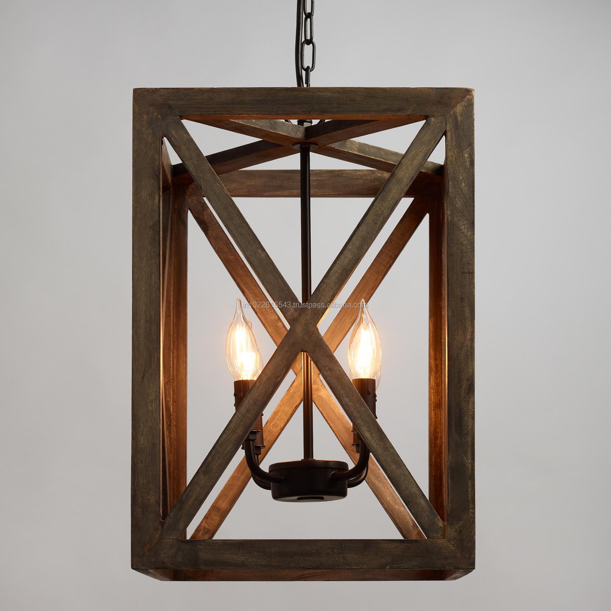 Ceiling Lights Vintage Mango Wood