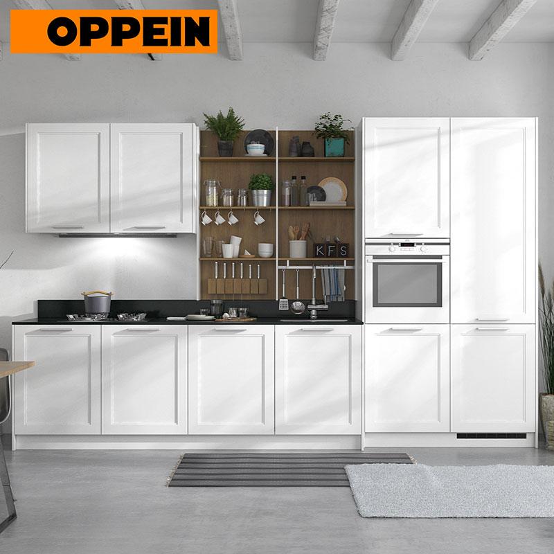 Mdf Kitchen Cabinets Price: Thermofoil MDF Branco Pré-montado Armário De Cozinha Com
